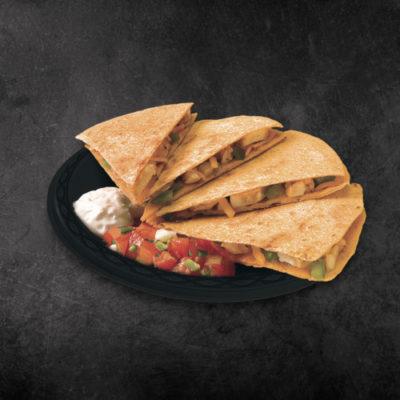 TacoTime Chicken Quesadilla on a dark background