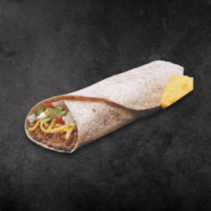 TacoTime Veggie Burrito on a dark background