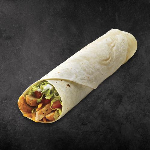TacoTime Super Chicken Burrito on a dark background