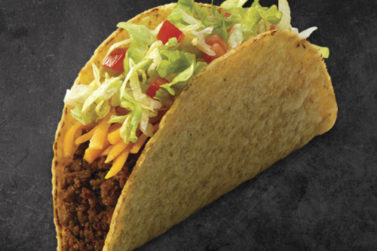 TacoTime Beef Taco on a dark background