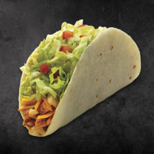 TacoTime Chicken Taco on a dark background