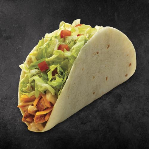 TacoTime Chicken Taco on a dark background