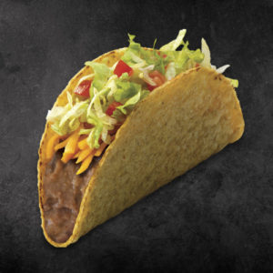 TacoTime Veggie Taco on a dark background