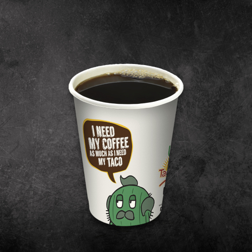 A cup of TacoTime Coffee